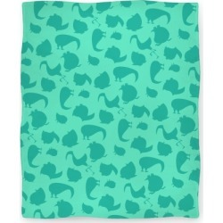 Birdie Pattern Blanket (Mint) Blanket from LookHUMAN found on Bargain Bro Philippines from LookHUMAN for $49.99