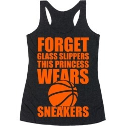 This Princess Wears Sneakers (Basketball) Racerback Tank from LookHUMAN