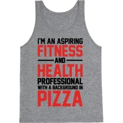 Professional Pizza Trainer Tank Top from LookHUMAN