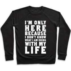 I'm Only Here Because I Don't Know What I'm Doing With My Life Pullover from LookHUMAN