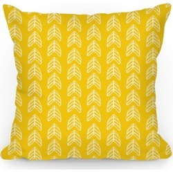 Yellow Trendy Chevron Pattern Throw Pillow from LookHUMAN found on Bargain Bro Philippines from LookHUMAN for $22.99