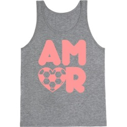 Soccer Amor Tank Top from LookHUMAN
