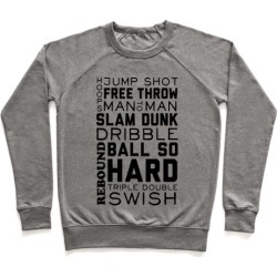 Basketball Typographic Pullover from LookHUMAN