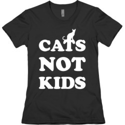 Cats Not Kids T-Shirt from LookHUMAN