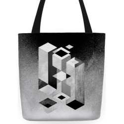 Geometry Optical Illusion Tote Bag from LookHUMAN found on Bargain Bro Philippines from LookHUMAN for $27.99