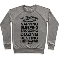 My Favorite Activities: Sleeping Pullover from LookHUMAN
