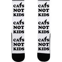 Cats Not Kids Socks from LookHUMAN