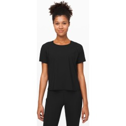 lululemon Women's Outrun The Heat Short Sleeve, Black Size 4 found on Bargain Bro UK from Lululemon UK