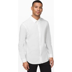 Lululemon Men's Down To The Wire Slim Fit Ls, White, Size XXL found on Bargain Bro UK from Lululemon UK