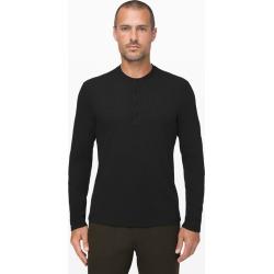 Lululemon Men's Shift Stitch Henley, Black, Size XL found on Bargain Bro UK from Lululemon UK