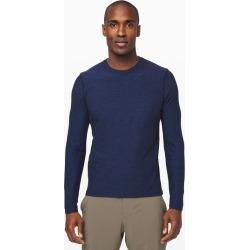 Lululemon Men's Surge Warm Long Sleeve, Heathered Moroccan Blue/Black, Size M found on Bargain Bro UK from Lululemon UK