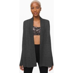 Lululemon Women's Sit In Lotus Wrap Cashmere, Heathered Core Dark Grey Size 8