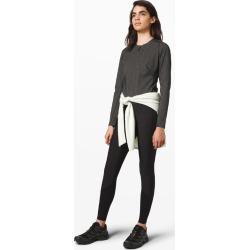 lululemon Women's Reykur Long Sleeve, Heathered Black Size 4 found on Bargain Bro UK from Lululemon UK