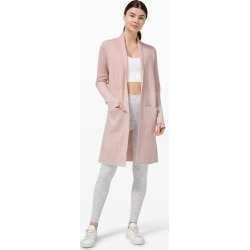 lululemon Women's Restful Intention Sweater Wrap, Pink Bliss/Heathered Pink Bliss Size 12 found on Bargain Bro UK from Lululemon UK
