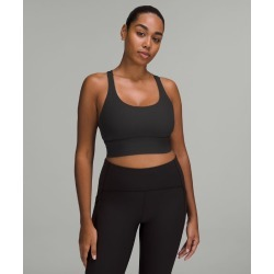 lululemon Women's Energy Sports Bra Long Line Rib, Black Size 6 found on Bargain Bro UK from Lululemon UK