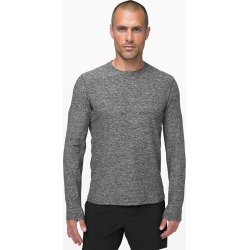 Lululemon Men's Surge Warm Ls, Heathered Black, Size XL found on Bargain Bro UK from Lululemon UK