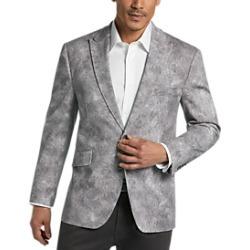 Joseph Abboud Gray Paisley Casual Coat