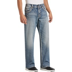 Silver Jeans Co. Light Blue Wash Relaxed Fit Jeans found on MODAPINS from menswearhouse.com for USD $49.99