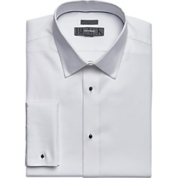 BLACK by Vera Wang White Slim Fit Corded Stripe Tuxedo Formal Shirt found on MODAPINS from menswearhouse.com for USD $114.50