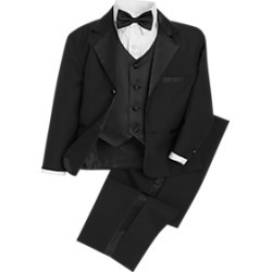 Peanut Butter Collection Black Toddler's Tuxedo