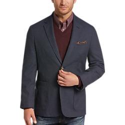 Joseph Abboud Indigo Blue Tic Casual Coat