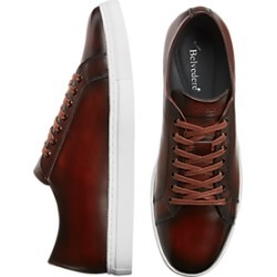 Belvedere James Brown Leather Sneakers found on MODAPINS from menswearhouse.com for USD $99.99