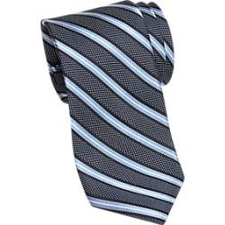 Joseph Abboud Navy and Light Blue Stripe Narrow Tie