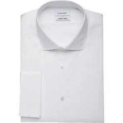 Calvin Klein Infinite Non-Iron White Pleated Bib Slim Fit Formal Dress Shirt found on MODAPINS from menswearhouse.com for USD $114.50