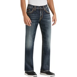 Silver Jeans Co. Gordie Dark Blue Wash Relaxed Fit Jeans found on MODAPINS from menswearhouse.com for USD $49.99