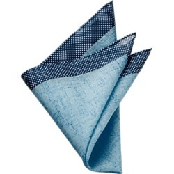 Egara Teal Pocket Square