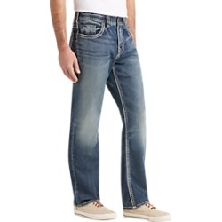 Silver Jeans Co. Grayson Medium Blue Wash Relaxed Fit Jeans found on MODAPINS from menswearhouse.com for USD $49.99