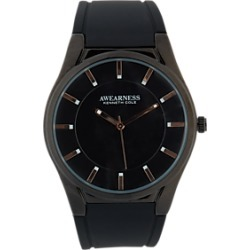 Awearness Kenneth Cole Black Rubber Strap Watch found on MODAPINS from menswearhouse.com for USD $49.99