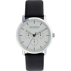 Awearness Kenneth Cole Silver & Black Watch found on MODAPINS from menswearhouse.com for USD $135.00