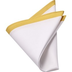 Yellow & White Pocket Square