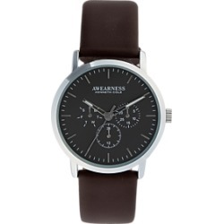 Awearness Kenneth Cole Silver & Brown Watch found on MODAPINS from menswearhouse.com for USD $49.99