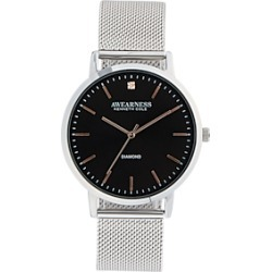 Awearness Kenneth Cole Silver & Black Watch found on MODAPINS from menswearhouse.com for USD $105.00