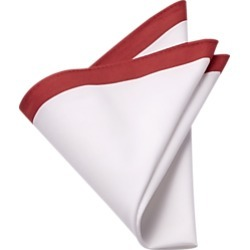 Red & White Pocket Square