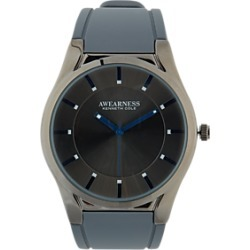Awearness Kenneth Cole Gunmetal & Gray Rubber Strap Watch found on MODAPINS from menswearhouse.com for USD $105.00