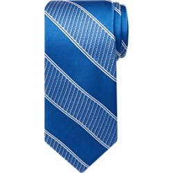 Pronto Uomo Textured Blue Stripe Tie found on MODAPINS from menswearhouse.com for USD $49.99