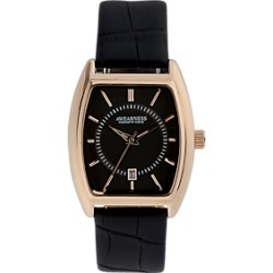 Awearness Kenneth Cole Rose Gold & Black Leather Band Watch found on MODAPINS from menswearhouse.com for USD $39.99