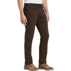 Joseph Abboud Brown Classic Fit Sateen Twill Casual Pants found on MODAPINS from menswearhouse.com for USD $99.00
