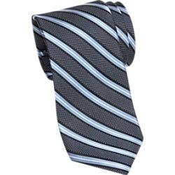 Joseph Abboud Navy and Light Blue Stripe Narrow Extra Long Tie