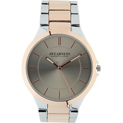 Kenneth Cole Silver & Rose Gold-Tone Watch found on MODAPINS from menswearhouse.com for USD $125.00