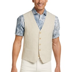 Joseph Abboud Tan Linen Modern Fit Vest found on MODAPINS from menswearhouse.com for USD $49.99