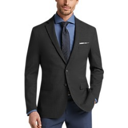 Awearness Kenneth Cole AWEAR-TECH Charcoal Check Extreme Slim Fit Coat