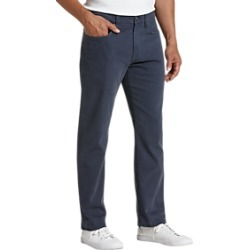 Joseph Abboud Navy Classic Fit Sateen Twill Casual Pants found on MODAPINS from menswearhouse.com for USD $99.00