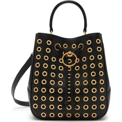 Mulberry Hampstead in Black Shiny Calf with Eyelets