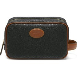 Mulberry Scotchgrain Wash Case - Black-Cognac found on Bargain Bro UK from Mulberry