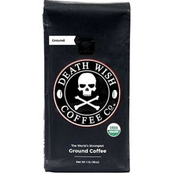 Death Wish Ground Coffee, The World's Strongest Coffee, Fair Trade and USDA Certified Organic, 16 Ounce found on Bargain Bro from  for $19.99