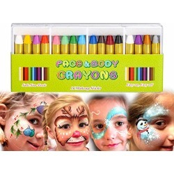 Painting Face kit Crayons, Muscccm 16 Colors Non-toxic Makeup Face Paint Sticks Body Tattoo Crayons Kit for Kids, Children, Toddlers, Party, Cosplay found on Bargain Bro from  for $6.69